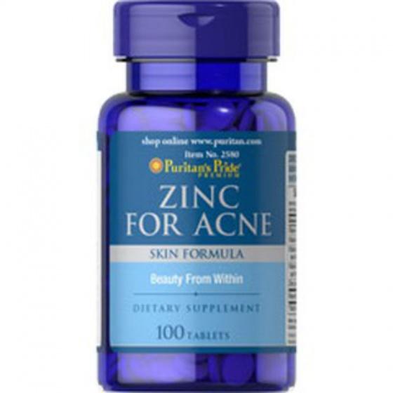 Viên uống Kẽm trị mụn Puritan's Pride Zinc for acne 100v