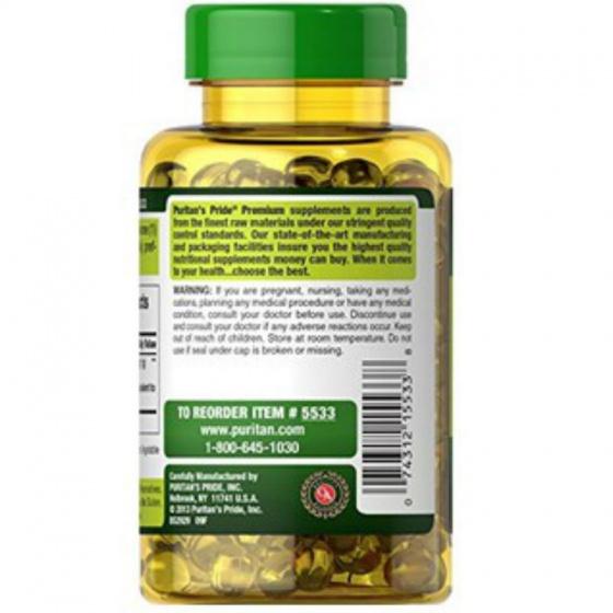 Viên uống dầu tỏi không mùi Puritan's Pride Odorless Garlic (100 viên) 1000mg
