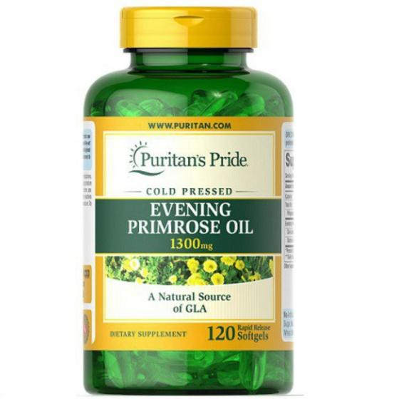 Viên uống tinh dầu hoa anh thảo Evening Primrose Oil 1300mg 120v của Puritan's Pride