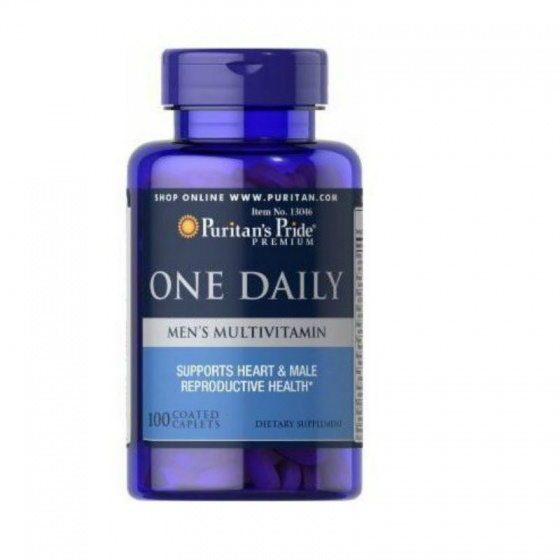 Sản phẩm Vitamin tổng hợp cho nam của Puritan's Pride One daily Men's Multivitamins 100v