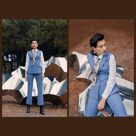 Áo vest tuýt xi màu xanh HeraDG - WAV19004