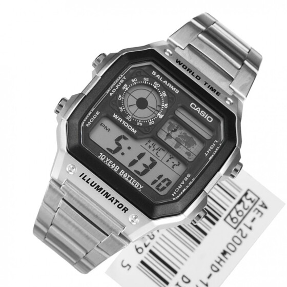 Đồng hồ Casio nam World Time AE-1200WHD-1AVDF