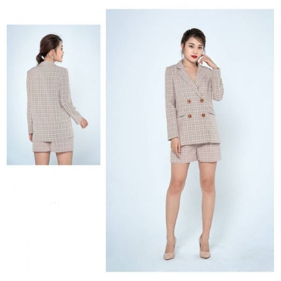 Áo blazer tuýt xi màu hồng HeraDG - WT19001A