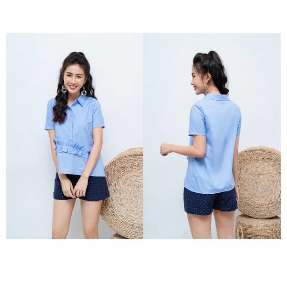 Áo kiểu thô xanh da trời HeraDG - SAK18044