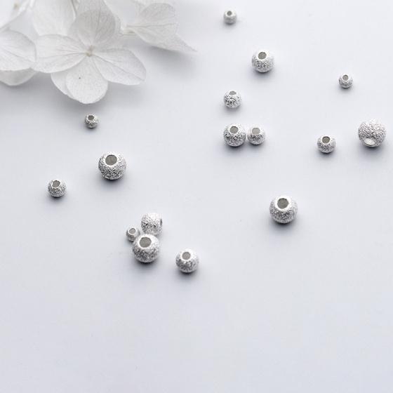 Charm bi bạc họa tiết xỏ ngang 3mm - Ngọc Quý Gemstones