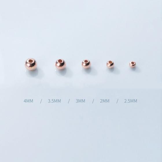 Combo 5 bi bạc hồng nhạc 3mm - Ngọc Quý Gemstones