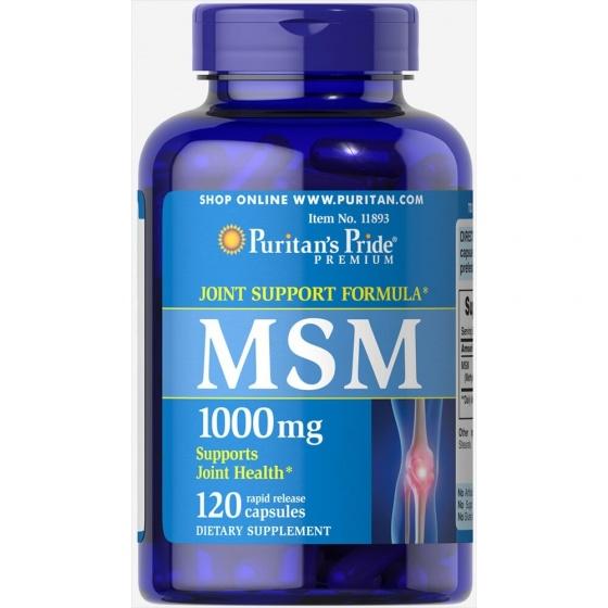Giảm đau nhức cơ xương khớp từ thảo dược của Puritan's Pride MSM 1000mg (120 viên)