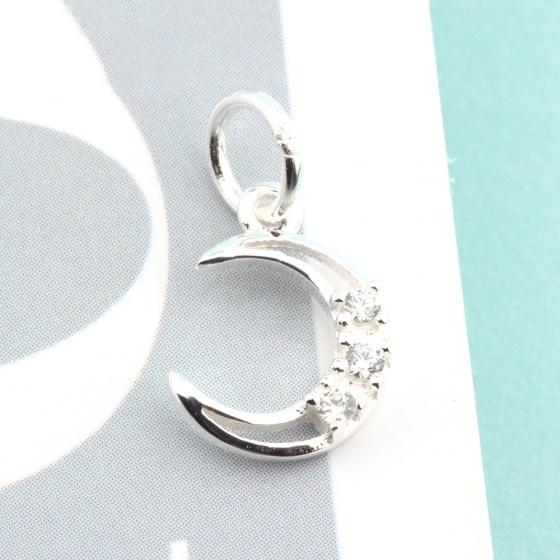 Charm bạc mặt trăng treo 7.9x11mm - Ngọc Qúy Gemstones