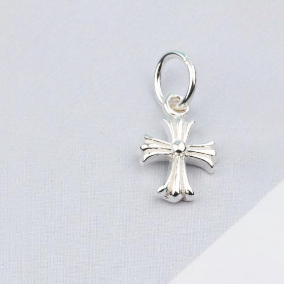 Charm bạc thánh giá treo 7.3x11mm - Ngọc Quý Gemstones