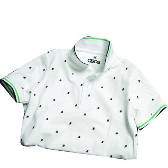 Áo phông nam có cổ polo có họa tiết chấm vuông Dokafashion - SBT 201