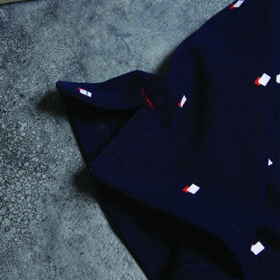Áo phông nam có cổ polo có họa tiết chấm vuông Dokafashion - SBT 202