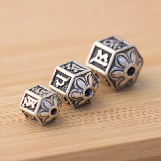 Charm bạc xỏ ngang 10.2x10.8mm - Ngọc Quý Gemstones