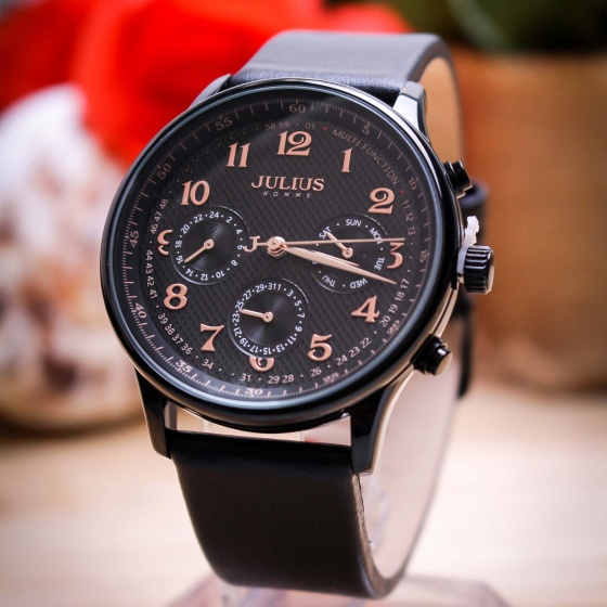 Đồng hồ nam JAH-108 Julius Homme Hàn Quốc 6 kim