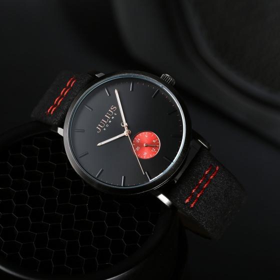 Đồng hồ nam Julius Hàn Quốc JAH-112 dây da lộn