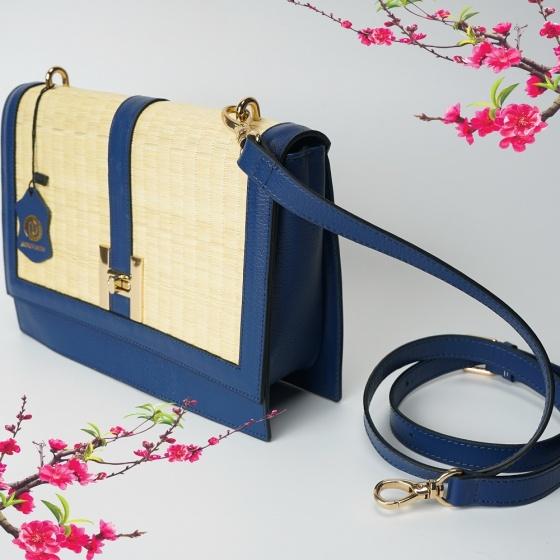 Túi cói thời trang màu xanh dương NORD122