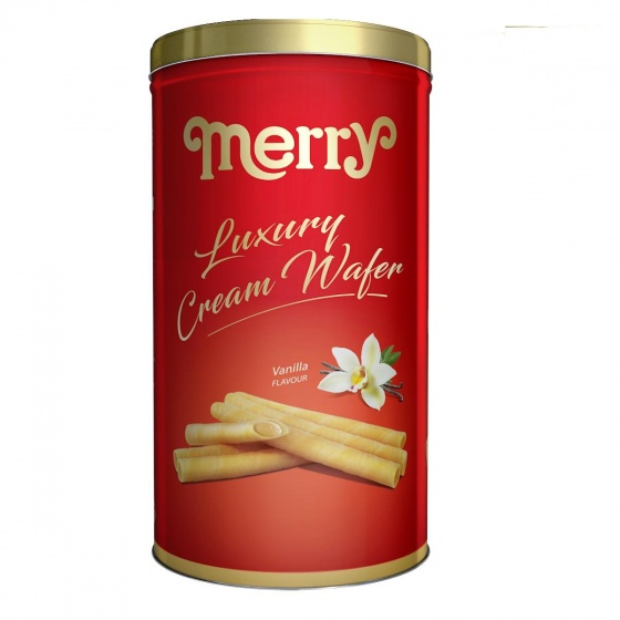 Bánh kem quế lon Merry hương vani 208g