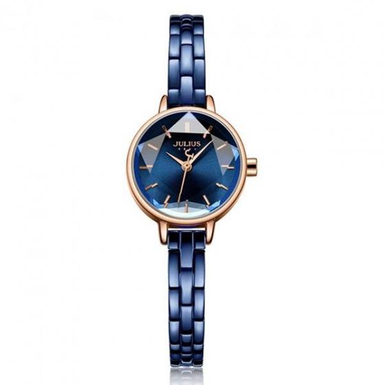 Đồng hồ nữ JA-1162D Julius Hàn Quốc dây thép (xanh dương)