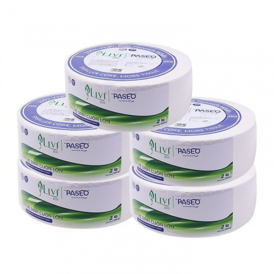 Combo 5 giấy vệ sinh cuộn 1000g (Livi Eco)