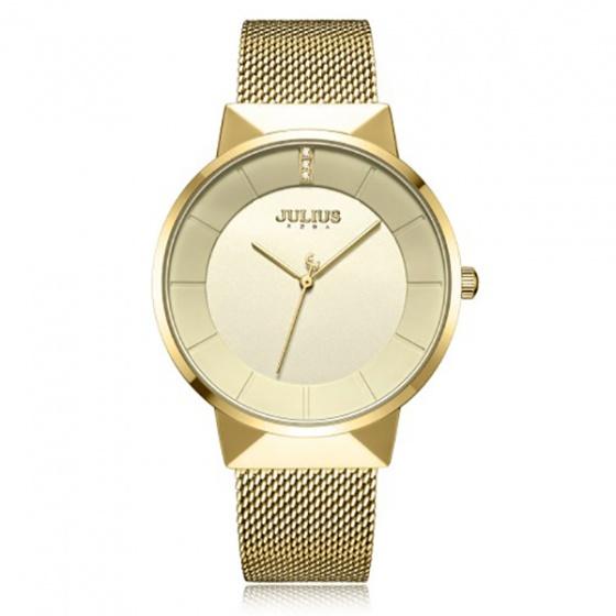 Đồng hồ nam JA-1104MB Julius Hàn Quốc dây thép (vàng)