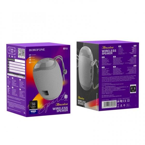 Loa không dây BR6 Borofone, bluetooth 5.0, nghe nhạc, gọi điện, fm, hỗ trợ thẻ nhớ, usb