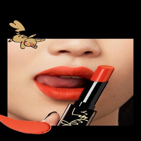 Son Shu Uemurax Pokemon Limited Edition lipstick - màu cam cháy Scarlet Fire