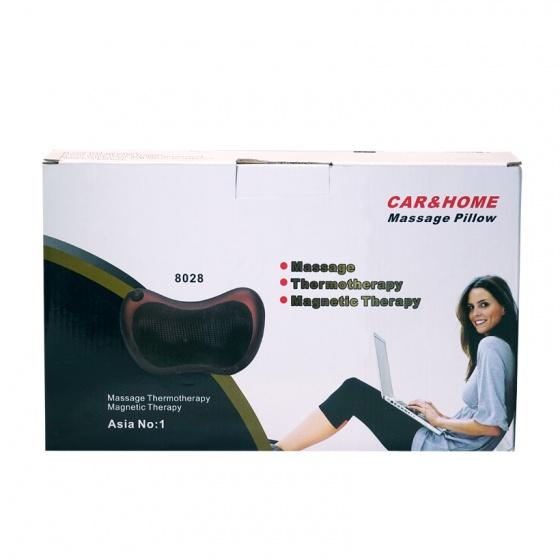 Combo 2 gối massage hồng ngoại 8 bi Pillow 8028 thế hệ mới (tặng kèm sạc)