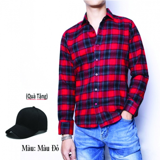 Áo sơ mi nam sọc caro nam tay dài cao cấp thương hiệu Dokafashion - 5 màu (tặng 1 nón)