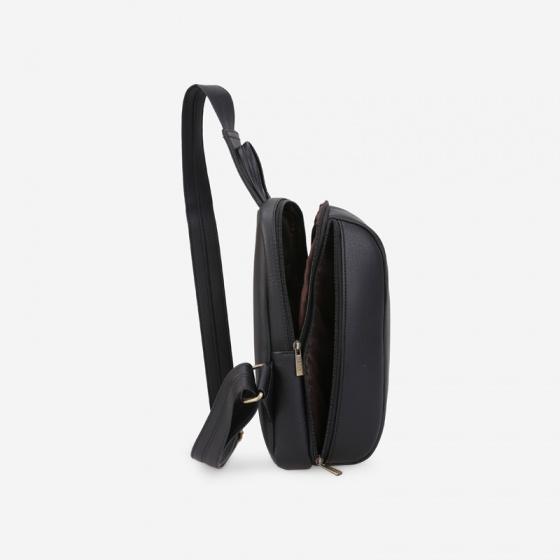 Túi đeo chéo trước ngực nam dáng bầu năng động Idigo MB2-411-00