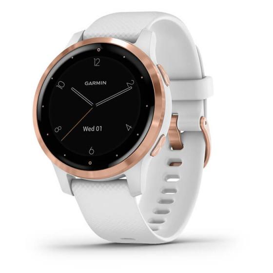 Đồng hồ thông minh Vivoactive 4S, GPS, Wi-Fi, White - Rose Gold, SEA
