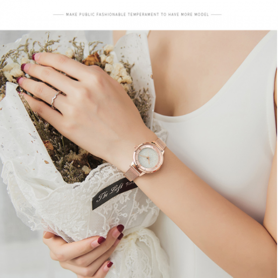Đồng hồ nữ dây kim loại chính hãng Julius Hàn Quốc JA-1216A bạc