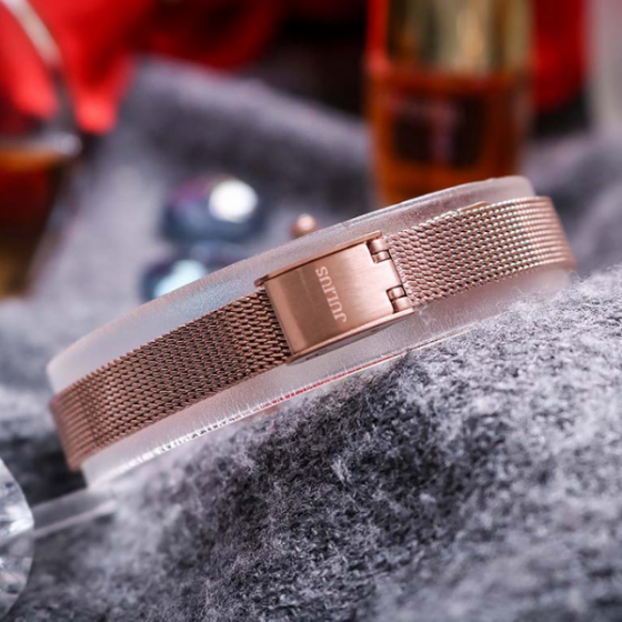 Đồng hồ nữ Julius JA-1213B dây thép không gỉ Hàn Quốc chính hãng