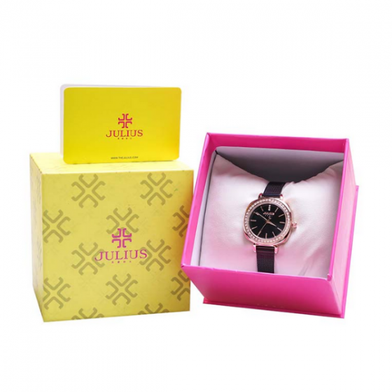 Đồng hồ nữ Julius JA-1213D dây thép không gỉ Hàn Quốc chính hãng