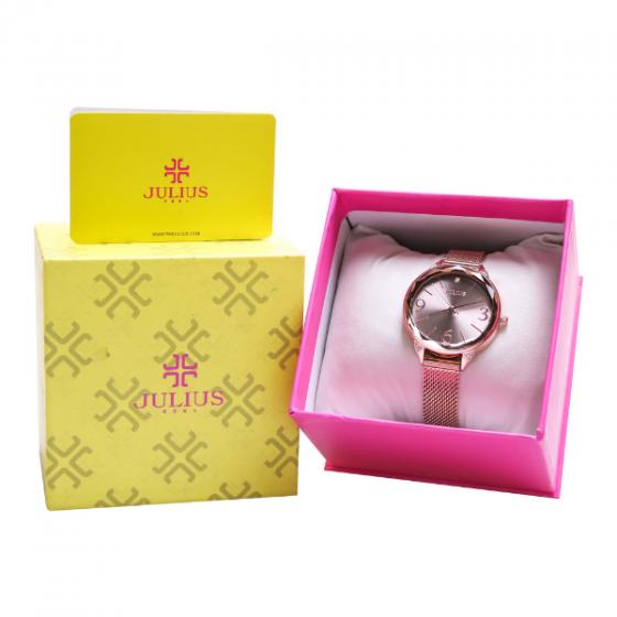 Đồng hồ nữ Julius JA-1210A dây thép không gỉ Hàn Quốc chính hãng