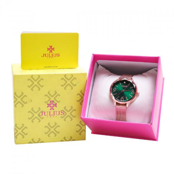 Đồng hồ nữ Julius JA-1210C dây thép không gỉ Hàn Quốc chính hãng