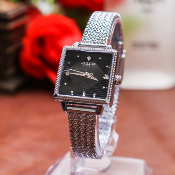Đồng hồ nữ JuliusJA-1220adây thép không gỉ Hàn Quốc chính hãng