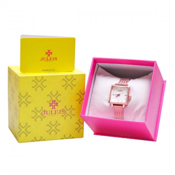 Đồng hồ nữ JuliusJA-1220bdây thép không gỉ Hàn Quốc chính hãng