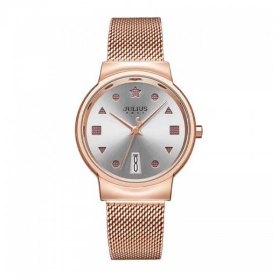 Đồng hồ nữ dây kim loại chính hãng Julius Hàn Quốc JA-1187B đồng