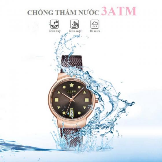 Đồng hồ nữ dây kim loại chính hãng Julius Hàn Quốc JA-1187C