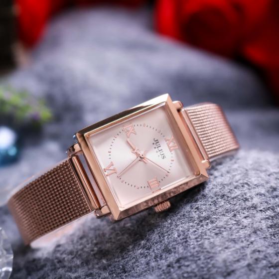 Đồng hồ nữ dây kim loại chính hãng Julius Hàn Quốc JA-1202B đồng