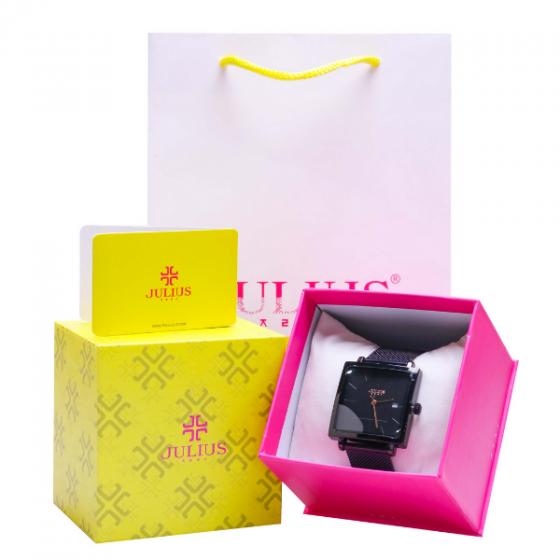 Đồng hồ nữ dây kim loại chính hãng Julius Hàn Quốc JA-1207D