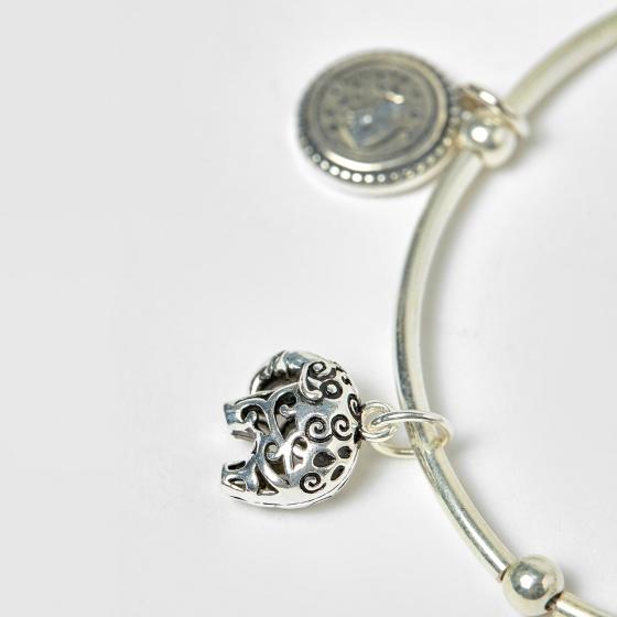 Lắc bạc charm gấu trúc - Ngọc Quý Gemstones