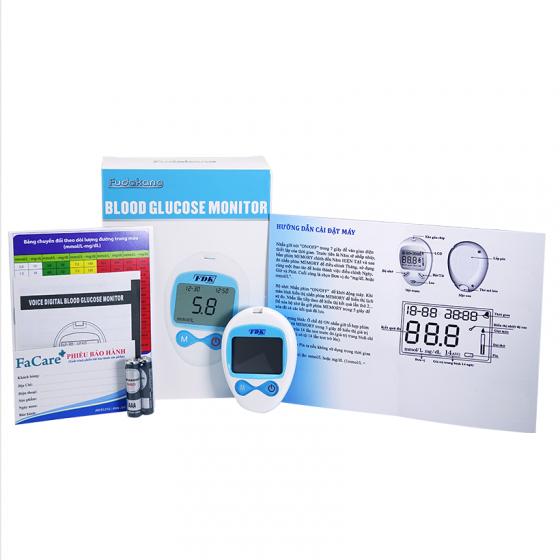 Máy đo đường huyết FDK eB-G (tặng kèm 1 hộp bông tẩm cồn sát trùng Tanaphar)