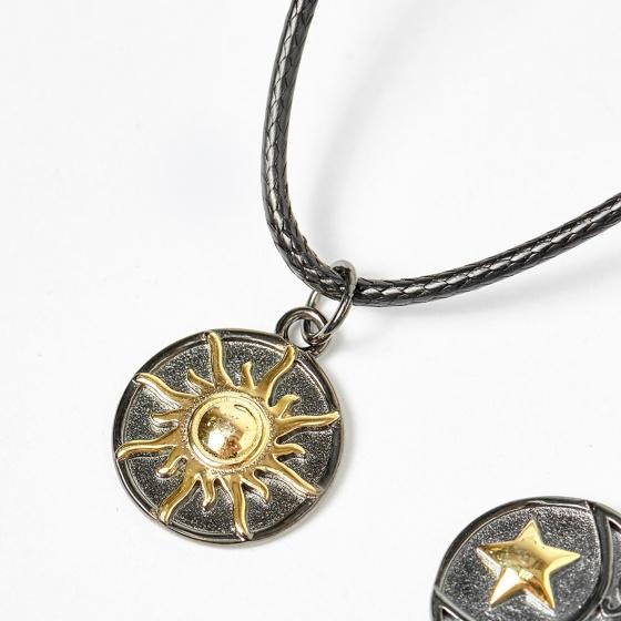 Combo dây chuyền nam nữ bạc moon and sun - Ngọc Quý Gemstones