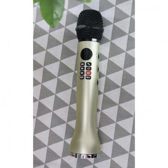 Micro không dây karaoke bluetooth có đèn Led JVJ L598- hỗ trợ ghi âm qua thẻ nhớ