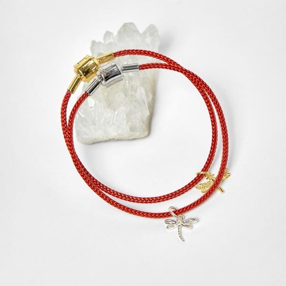 Combo 2 vòng dây đỏ charm chuồn chuồn - Ngọc Quý Gemstones