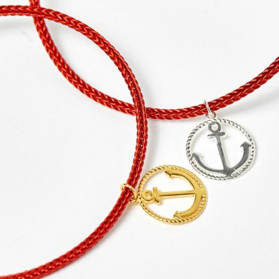 Combo 2 vòng dây đỏ charm mỏ neo - Ngọc Quý Gemstones