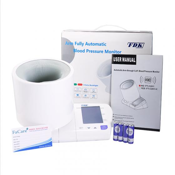 Máy đo huyết áp bắp tay FDK FT-C25Y, bảo hành 5 năm (tặng nhiệt kế điện tử đầu mềm Tanako)