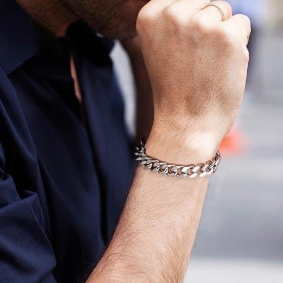 Lắc tay nam titan 18cm - Ngọc Quý Gemstones