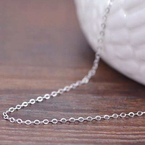 Dây chuyền cổ nữ hợp kim mạ bạc 60cm - Ngọc Quý Gemstones