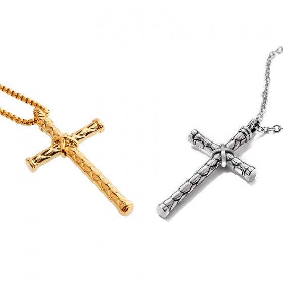Dây chuyền hợp kim mặt hình thánh giá - Ngọc Quý Gemstones